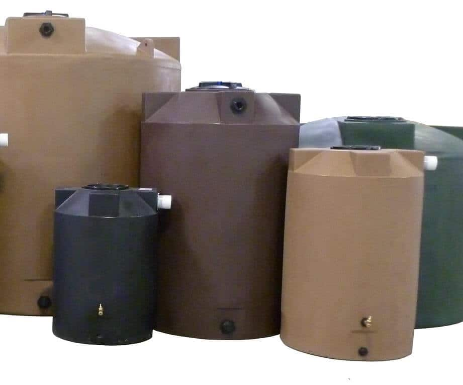 preppers will - harvesting rainwater in plastic water tanks
