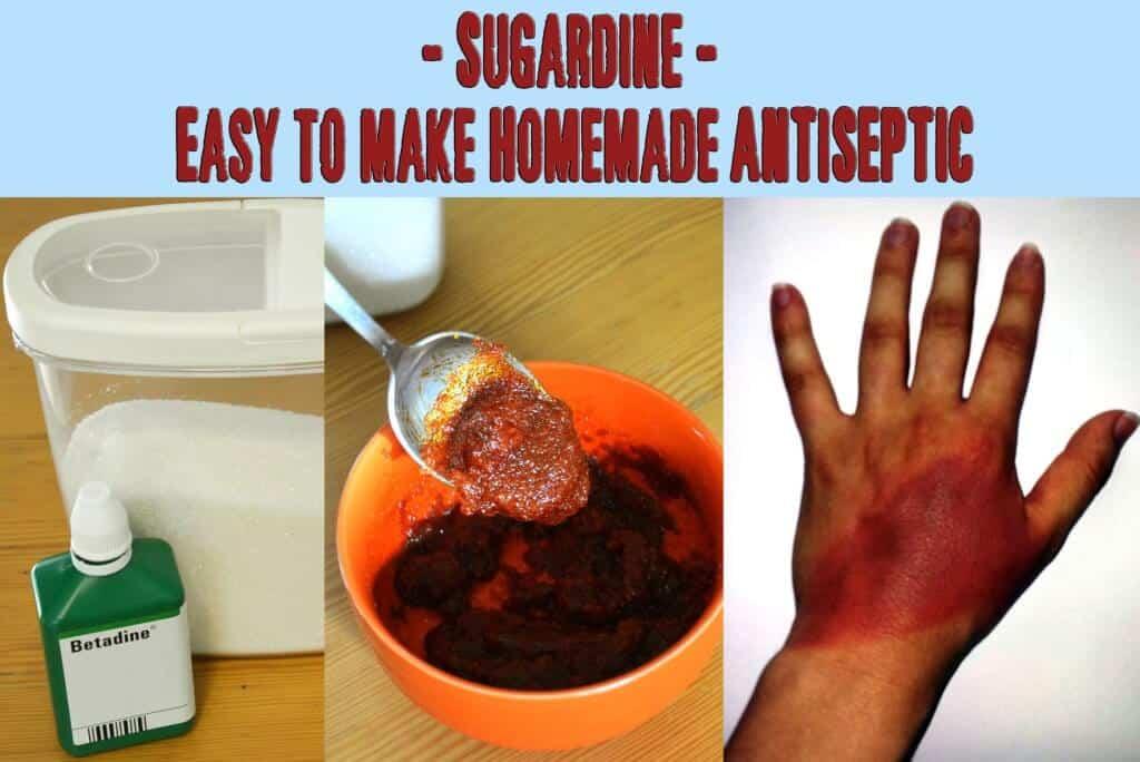 Sugardine – A cheap homemade antiseptic