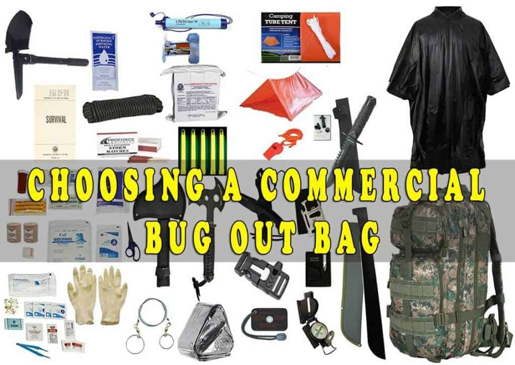 Choosing a commercial Bug Out Bag