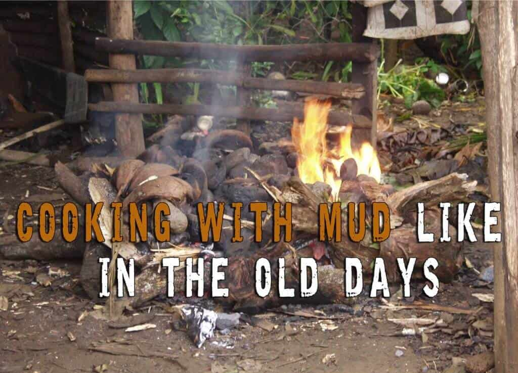 Cooking With Mud Like In The Old Days