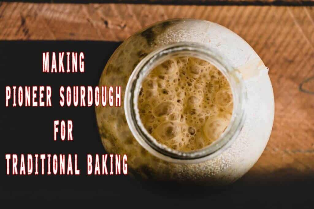 Making Old Pioneer Sourdough For Traditional Baking