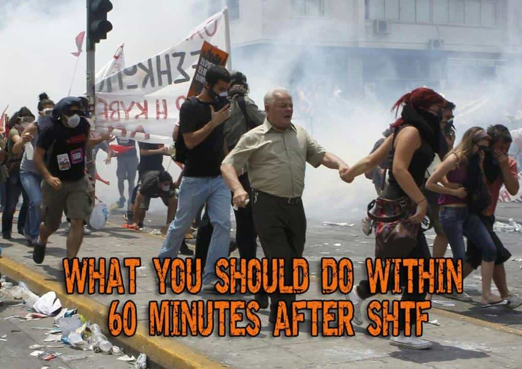 What You Should Do Within 60 Minutes After SHTF