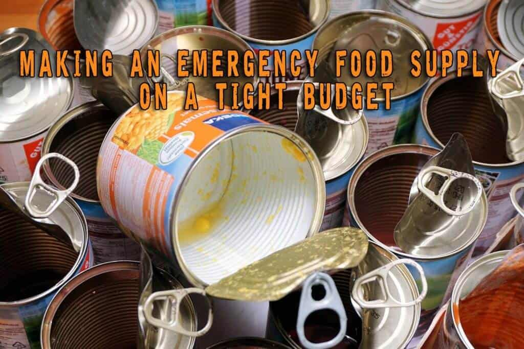Making An Emergency Food Supply On A Tight Budget