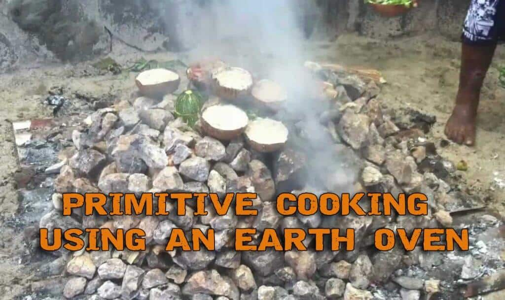 Primitive Cooking Using An Earth Oven