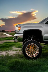 Four-wheel driving - lifted truck