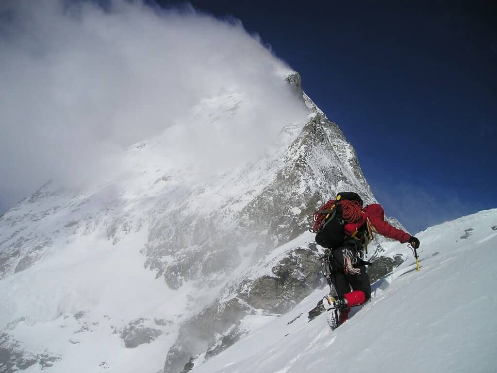 Mountain travel during the winter