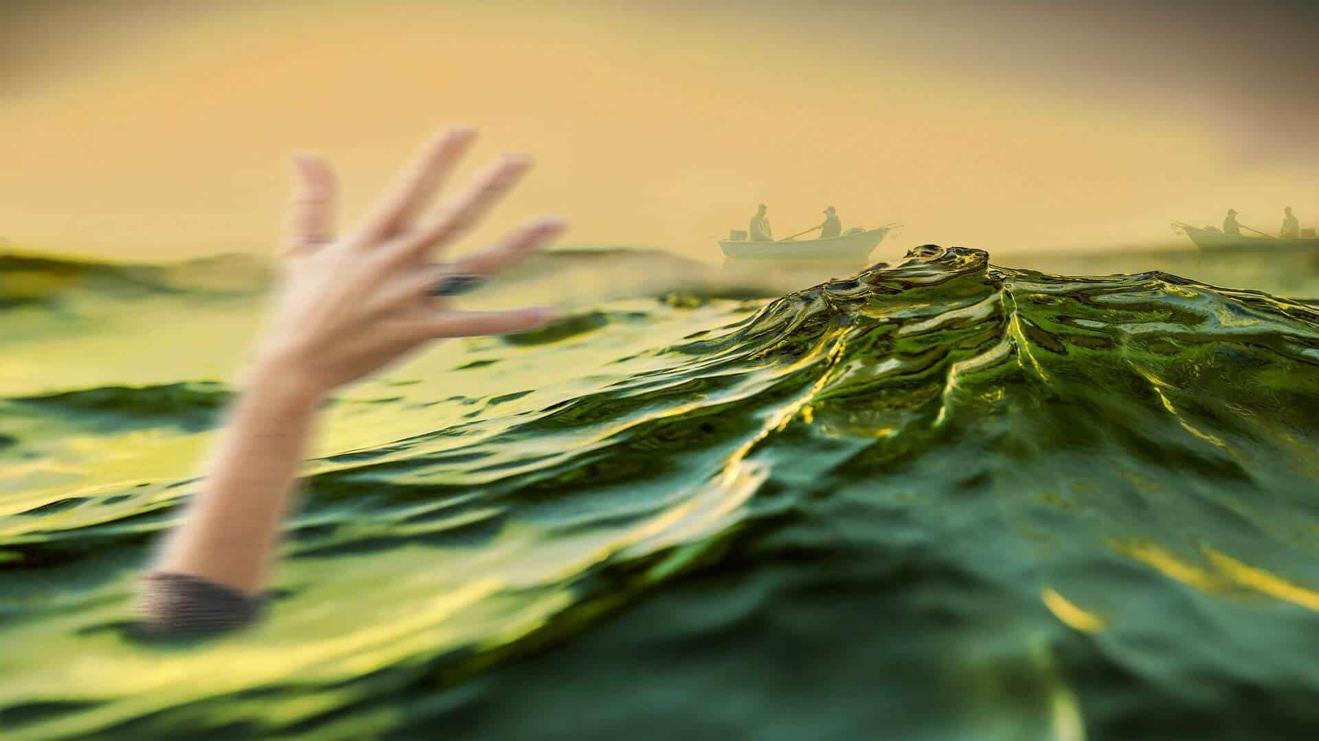 Near drowning victim