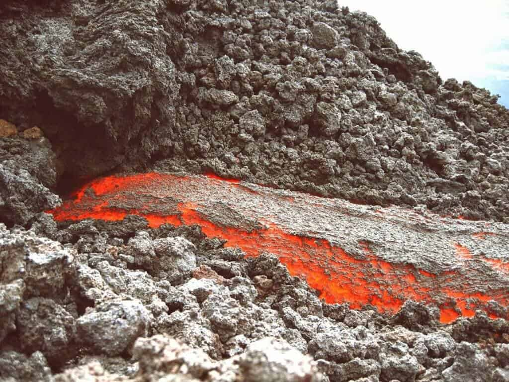 Magma from volcanoes