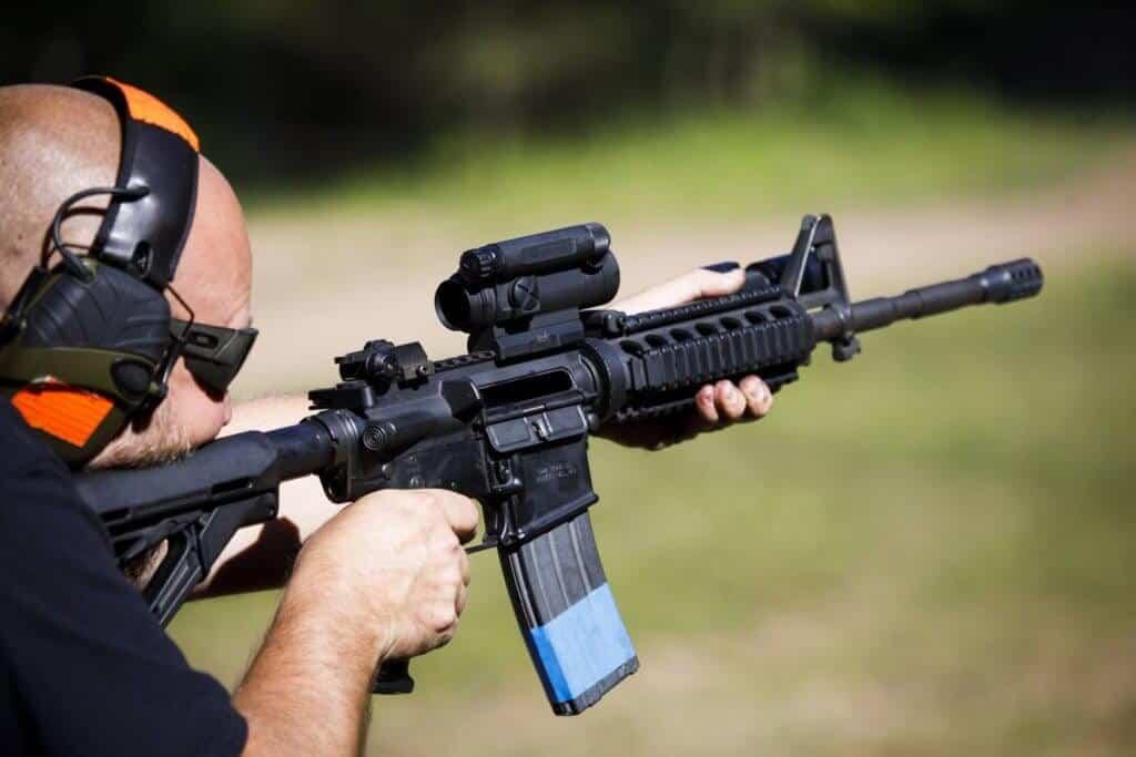 Machine Gun Shooting At The Range