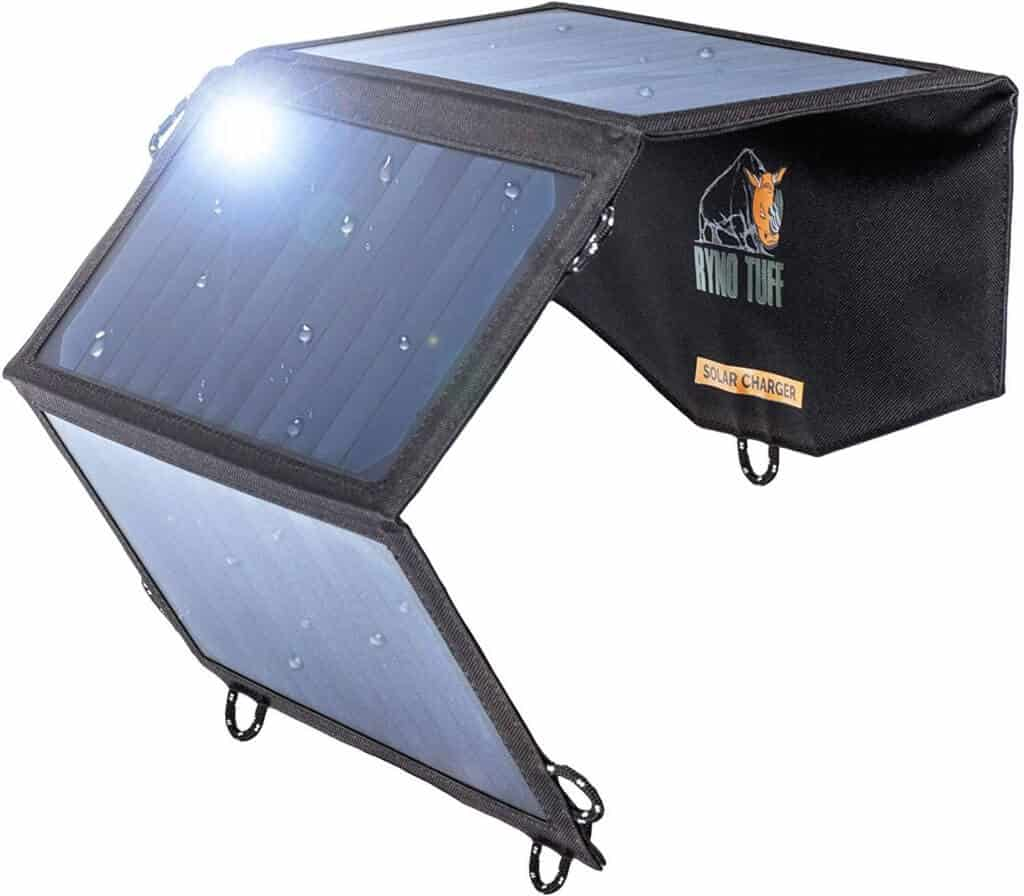 Ryno Tuff Portable Solar Charger For Camping