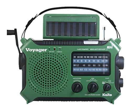 kaito kaito voyager solar crank radio green