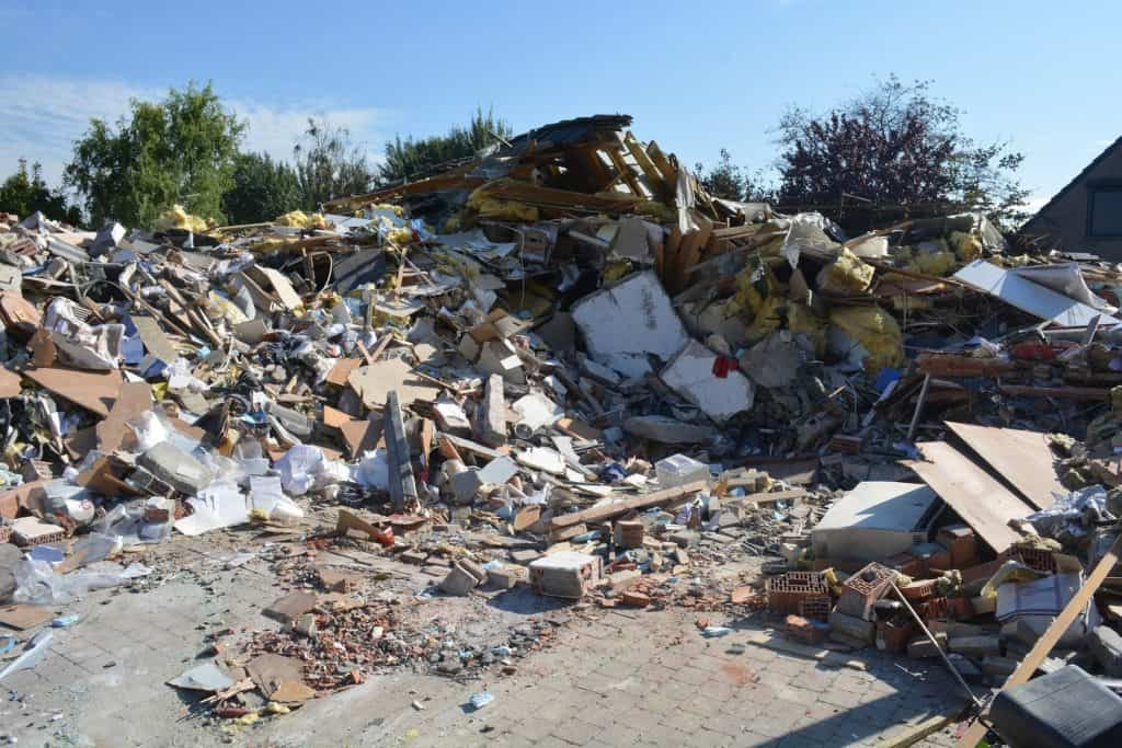 House After Explosion