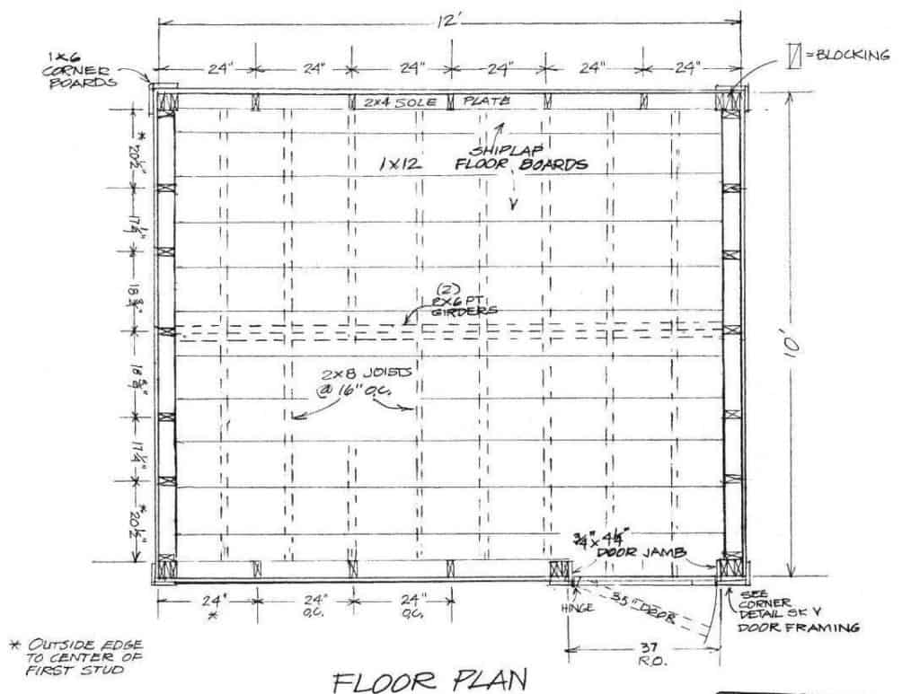 Survival Shack Floor Plan