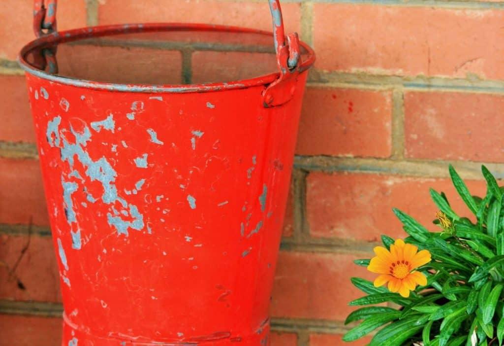 water fire bucket