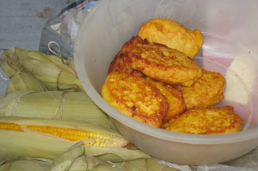 making corn cakes