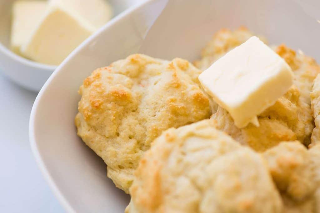 making drop biscuits