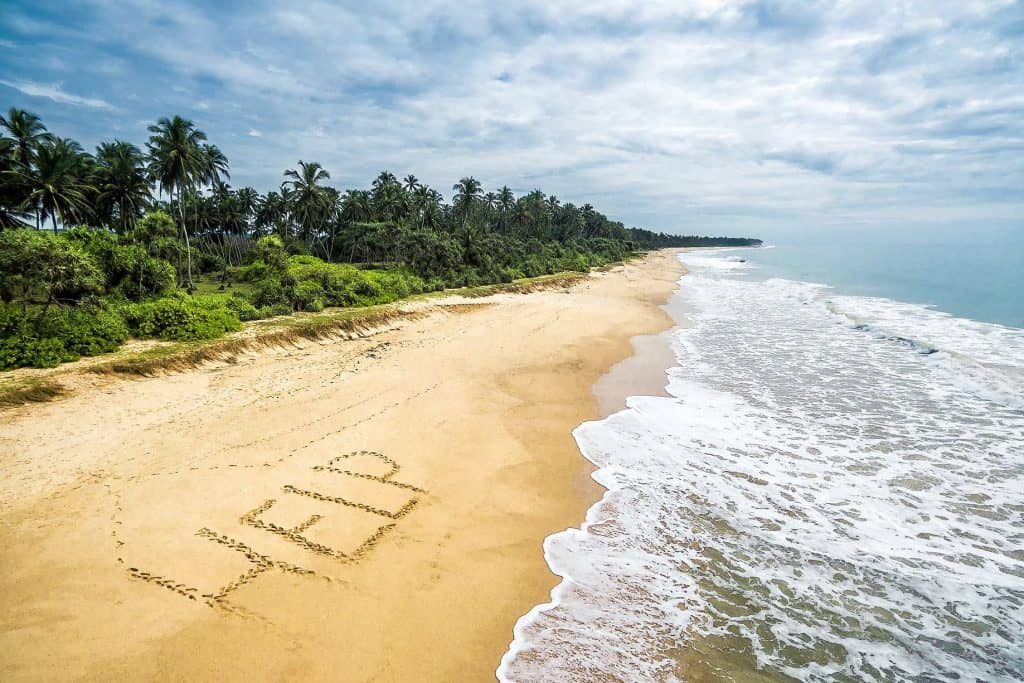wild tropical island with a deserted beach